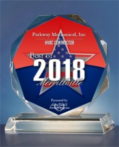 Parkway Mechanical - 2018 Best of Merrillville Award HVAC Contractor - Merrillville Award Program
